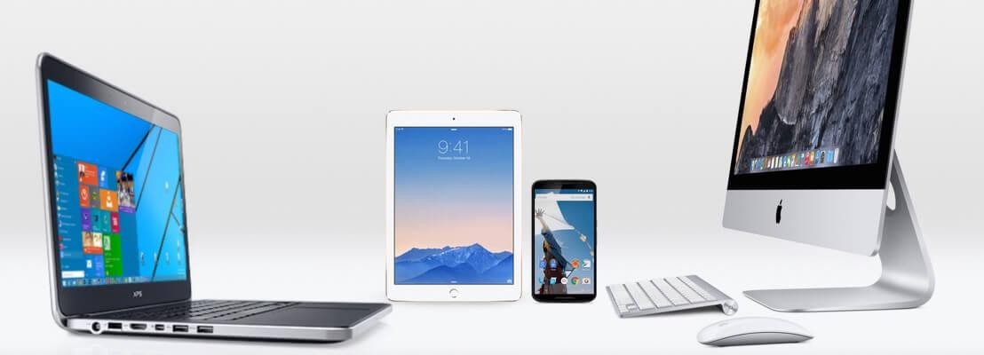 Alguns tipos de computadores e equipamentos usados por designers