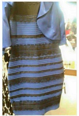 Vestido azul ou branco