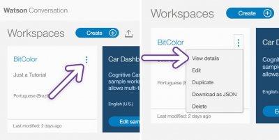 Pegar Código do Workspace no Watson