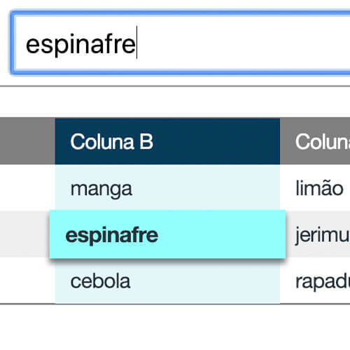 Como destacar (hightlight) uma célula de uma Tabela HTML após uma busca